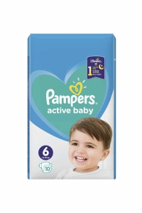 Pampers 6 extra large active baby