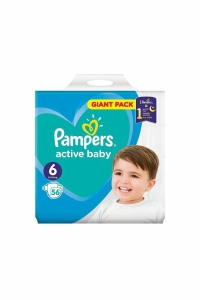 Pampers giant pack 6 extra large active baby