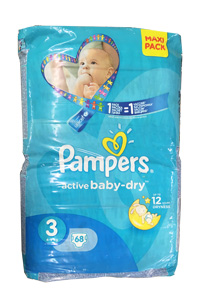 Pampers 3 active baby dry maxi pack